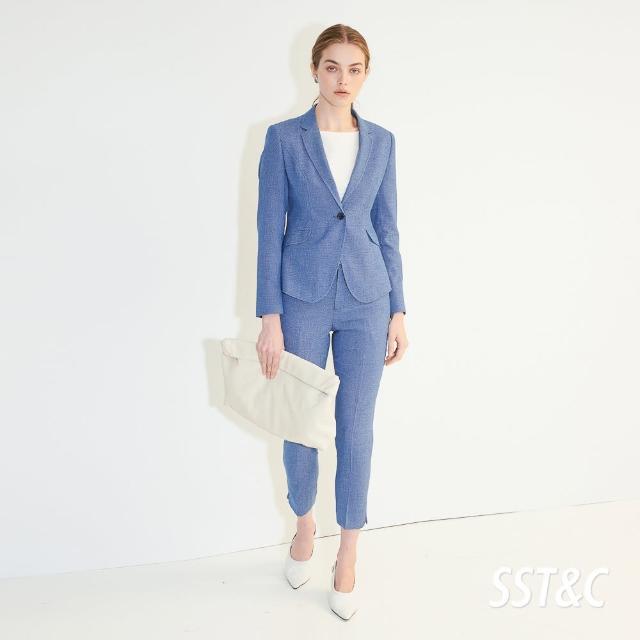 【SST&C】皇家藍九分合身長褲7262104007
