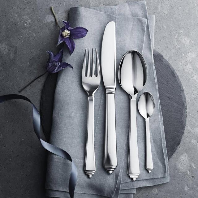 【Georg Jensen 喬治傑生】PYRAMID 餐具四件組(3651504)