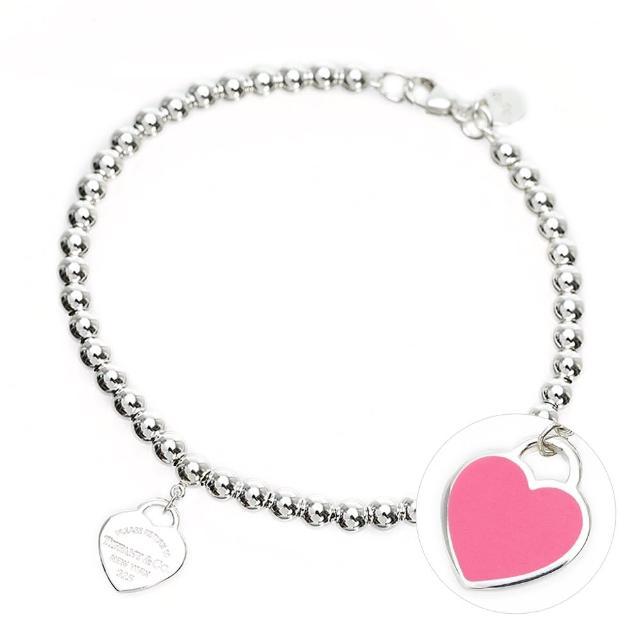 【Tiffany&Co. 蒂芙尼】Return To Tiffany 純銀圓珠/雙鍊/Open Heart簍空 心型吊牌手鍊(多款多色選)