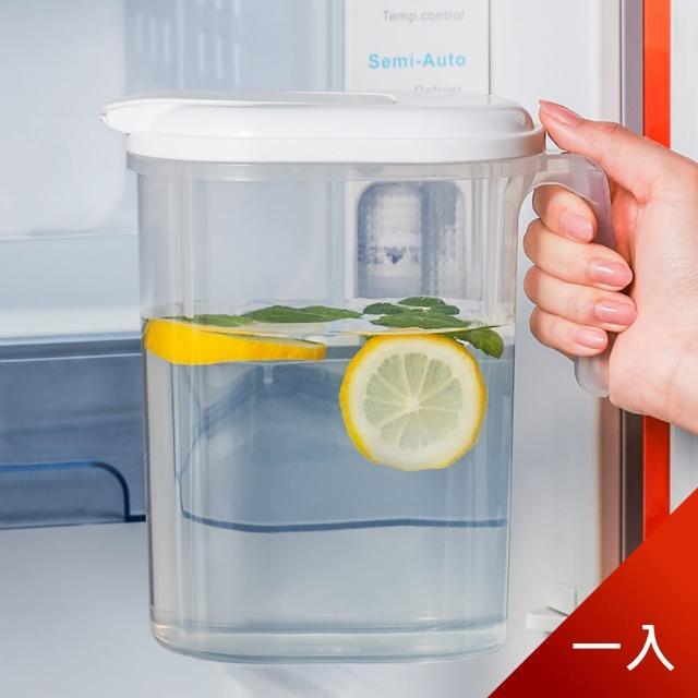 【Dagebeno荷生活】日式簡約PP冷水壺 大容量北歐扁身設計 可放冰箱側門