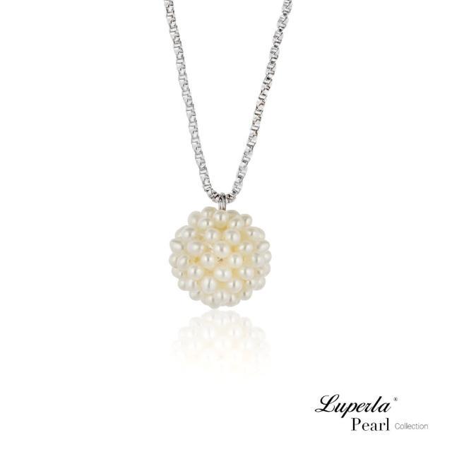 【大東山珠寶】繡球花永恆 珍珠925銀項鍊 歐美古典編織珠寶(時尚珍珠/925銀)