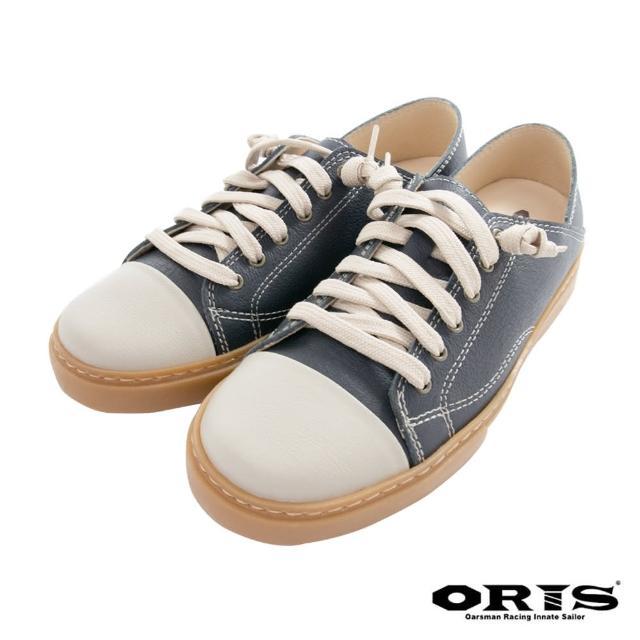 【oris 帆船鞋】復古兩穿懶人休閒鞋-藍-S0725N04(真皮/手工/休閒鞋/懶人鞋)