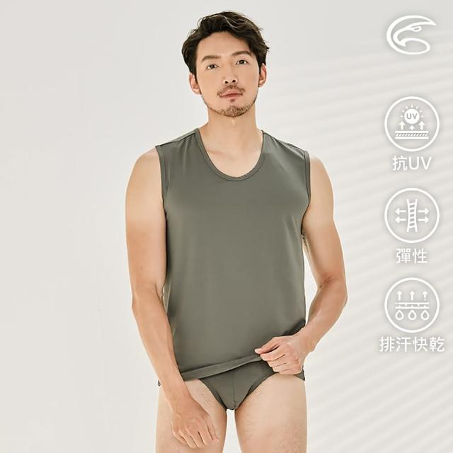 【ADISI】男Tactel Pro快乾排汗寬肩背心AV2111189(防曬 UPF50+ 抗紫外線 彈性 速乾 透氣 輕量)
