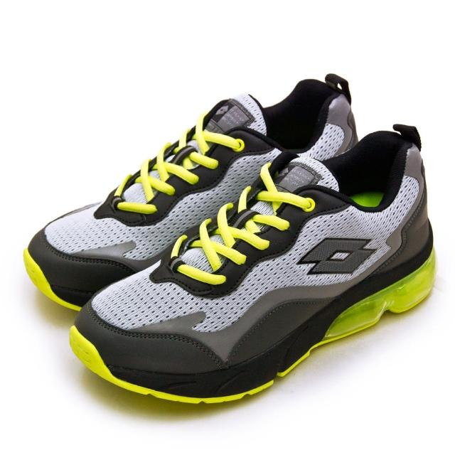 【LOTTO】男 專業避震氣墊慢跑鞋 FLOAT系列(灰黑綠 2185)