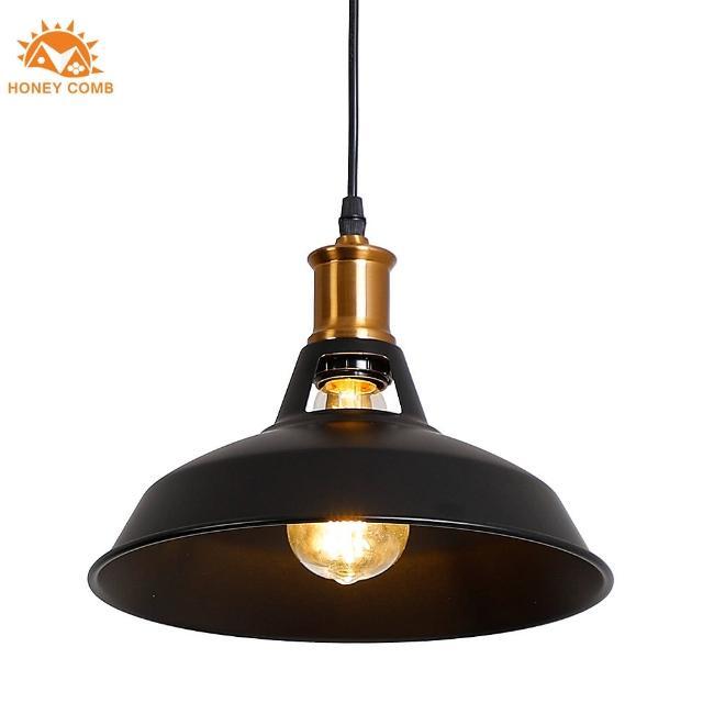 【Honey Comb】紐約美式工業風餐廳單吊燈黑色(KC1393)