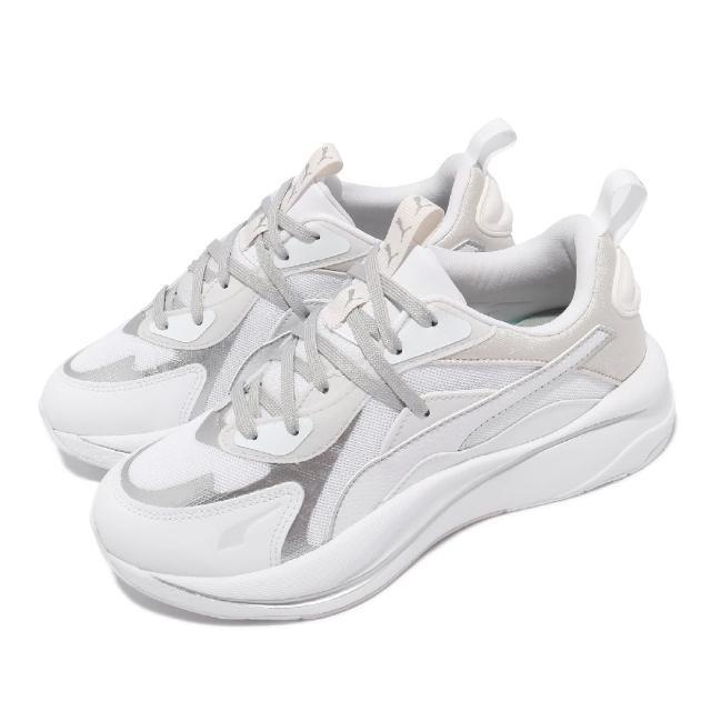 【PUMA】休閒鞋 RS-Curve Glow 女鞋 海外限定 復古 厚底 老爹鞋 穿搭推薦 白 灰(375174-02)