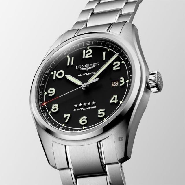 【LONGINES 浪琴】Spirit 先行者系列飛行員機械錶 套錶-42mm(L38114539)