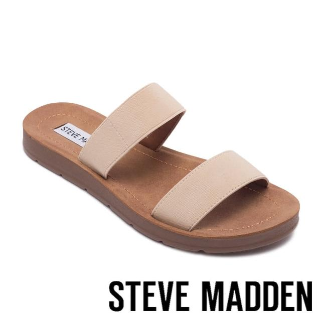 【STEVE MADDEN】POSCALE 彈性帶雙帶涼拖鞋(粉色)