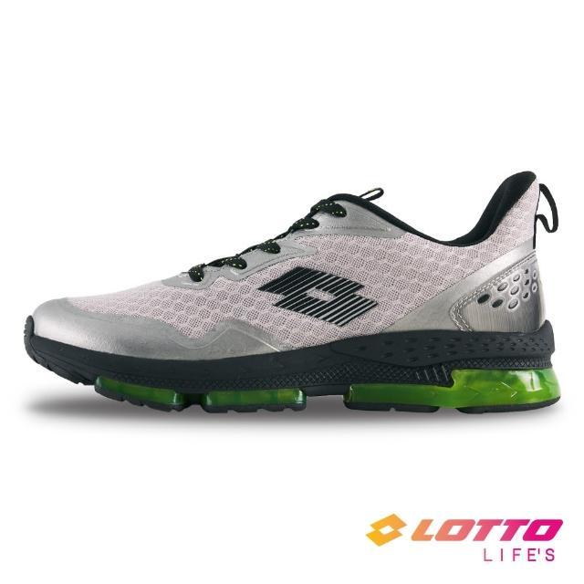 【LOTTO】男 SPACE 270 避震膠跑鞋(銀灰-LT1AMR3618)