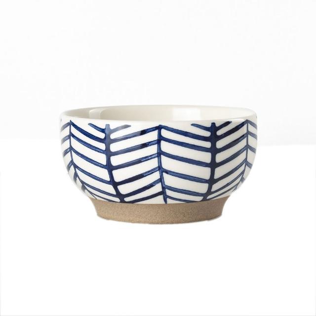 【Royal Duke】復古手繪藍彩系列-4.75吋碗-樹枝 2入組(復古 彩繪 陶瓷 小碗 飯碗 買一送一)