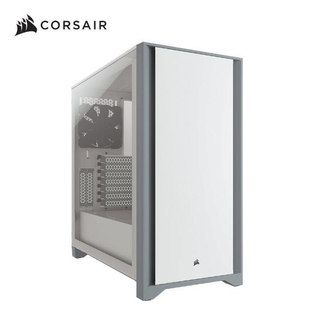 【機殼+2TB外接硬碟】CORSAIR 海盜船 4000D 電競機殼-白玻璃+TOSHIBA 2TB外接硬碟