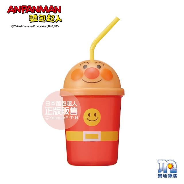 【ANPANMAN 麵包超人】AN麵包超人轉蓋吸管杯-麵包超人(330ml/兒童餐具/卡通)