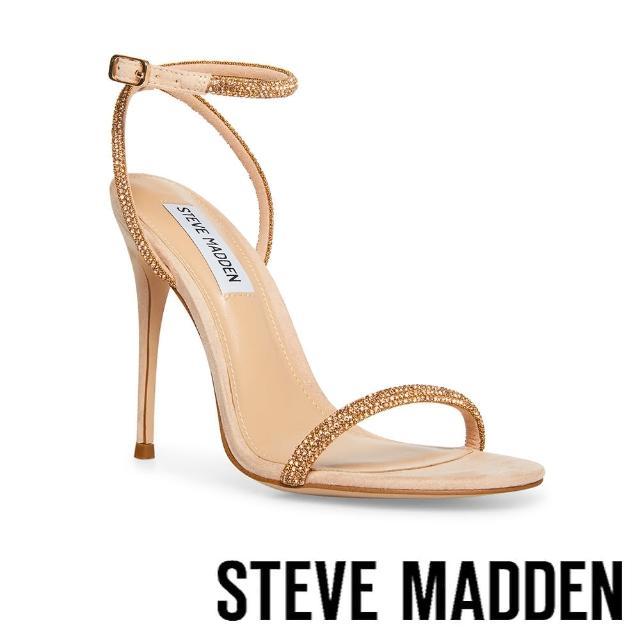 【STEVE MADDEN】BRESLIN 閃耀細帶繞踝高跟涼鞋(膚金色)