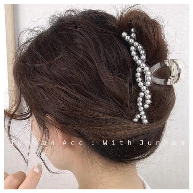 【HaNA 梨花】韓國簡單居家盤髮妙計.珍珠扭花抓夾