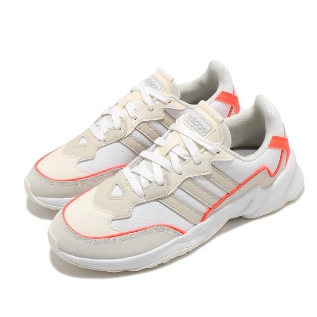 【adidas 愛迪達】慢跑鞋 20-20 FX 運動休閒 女鞋 愛迪達 路跑 緩震 透氣 穿搭推薦 米 橘(EH2147)
