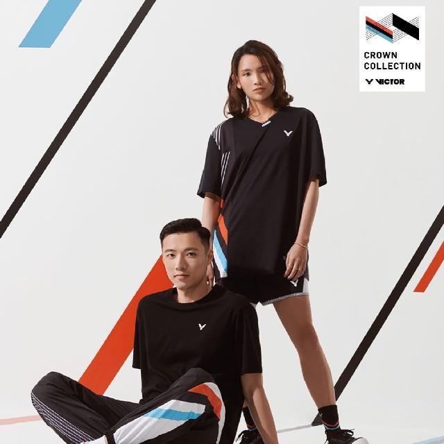 【VICTOR 勝利體育】2021 CROWN COLLECTION戴資穎專屬系列 運動棉T-shirt 中性款(T-CC113 C 黑)