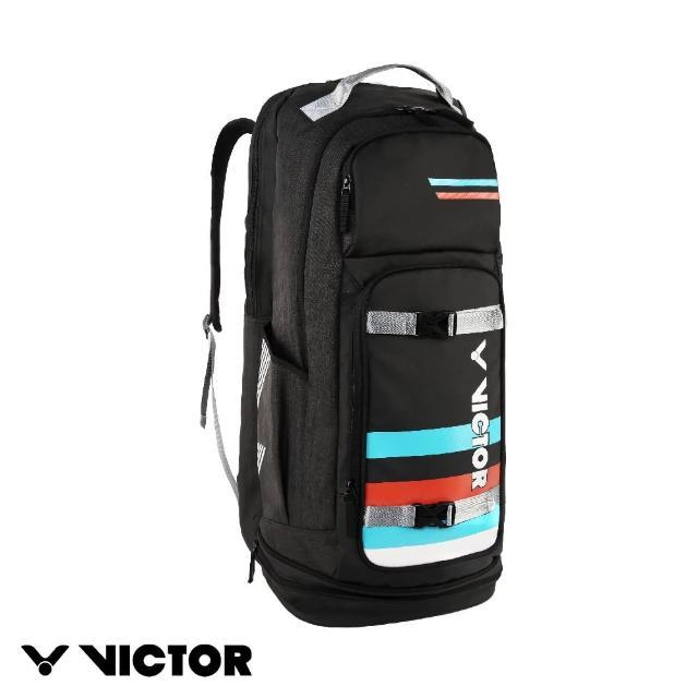 【VICTOR 勝利體育】2021 CROWN COLLECTION戴資穎專屬系列 長型後背包 中性款(BRCC810 C 黑)