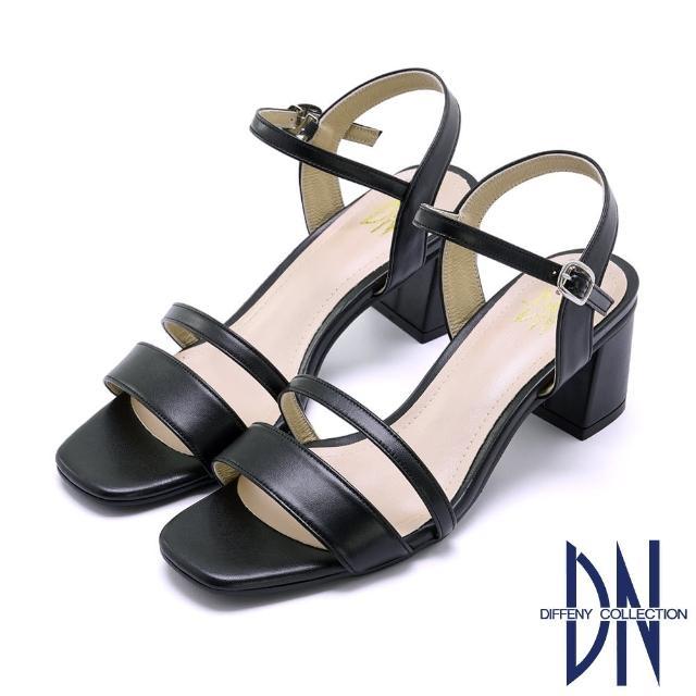 【DN】DN涼鞋_MIT典雅真皮素面尖頭瑪莉珍跟鞋(黑)