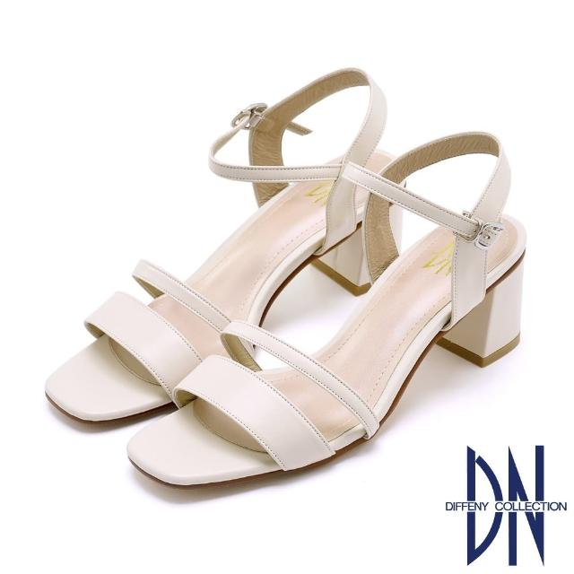 【DN】DN涼鞋_MIT典雅真皮素面尖頭瑪莉珍跟鞋(米)