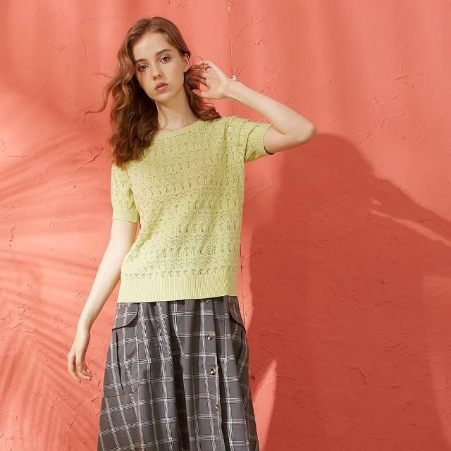 【CUMAR】簍空剪裁造型-女短袖針織衫(三色/魅力商品/版型適中)