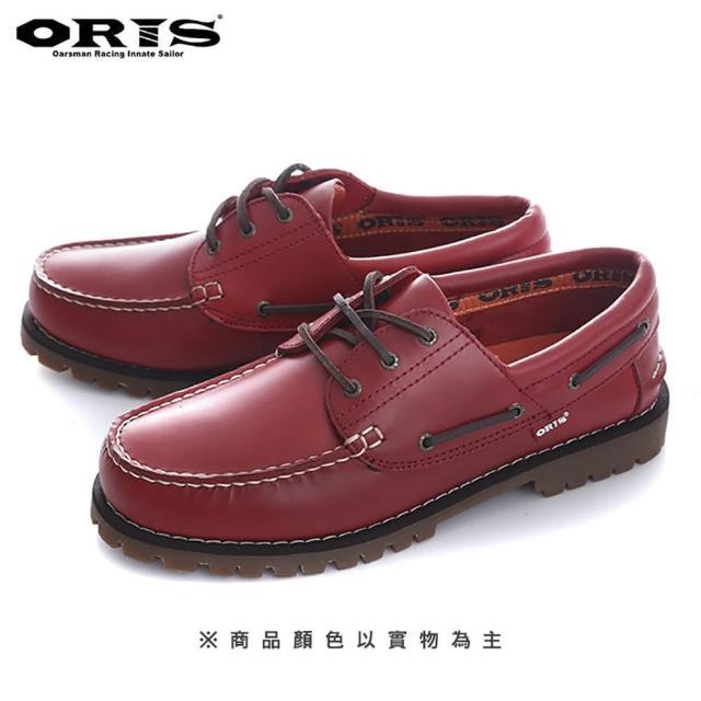 【oris 帆船鞋】流行素色帆船鞋-紅/女款-734A07(真皮/手工/帆船鞋)