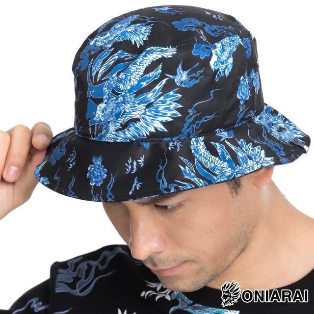 【BLUE WAY】藍摺繪滿版印花漁夫帽-鬼洗