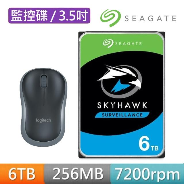 【送無線滑鼠】SEAGATE 希捷 監控鷹 SkyHawk 6TB 3.5吋 5400轉 SATAⅢ 監控硬碟(ST6000VX001)