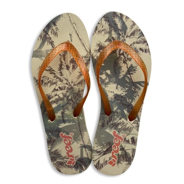 【REEF】拖鞋 夾腳拖 女鞋 橘 RF1444CPA