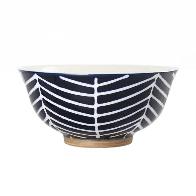 【Royal Duke】復古手繪藍彩系列-6.5吋碗-樹枝(復古 彩繪 條紋 樹枝 陶瓷 小碗 飯碗)