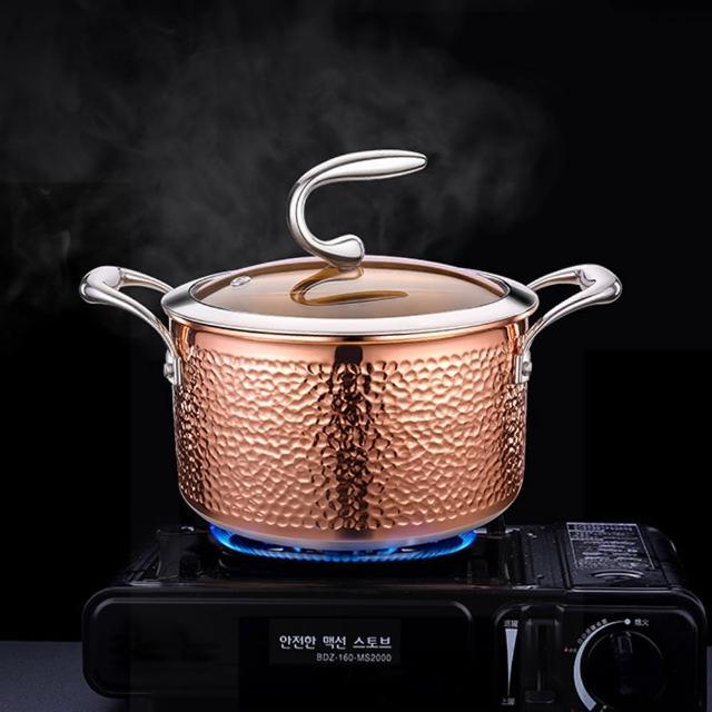【PUSH!】廚房用品精鑄304不銹鋼雪平鍋湯鍋泡麵鍋拉麵鍋(小煮鍋D265)