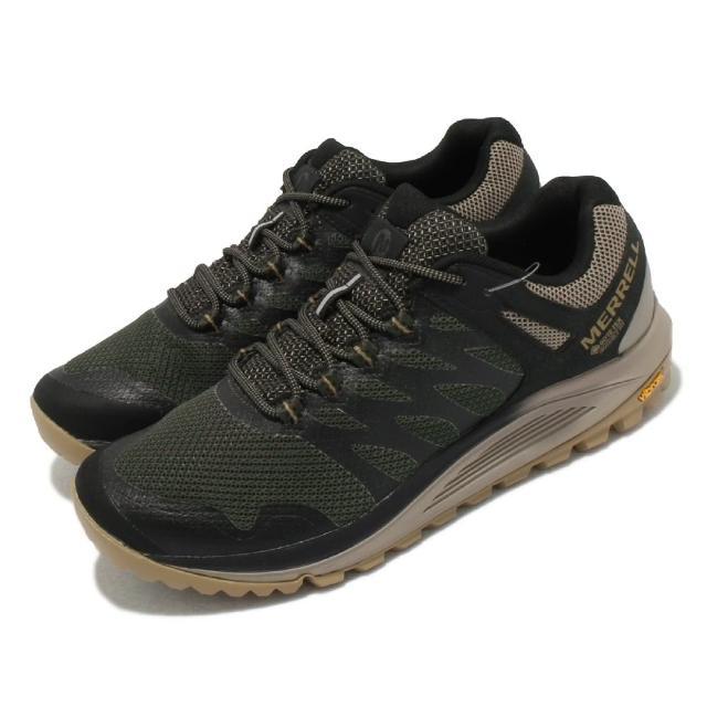 【MERRELL】戶外鞋 Nova 2 GTX 防潑水 男鞋 登山 越野 耐磨 黃金大底 穩定 支撐 綠 黑(ML066945)