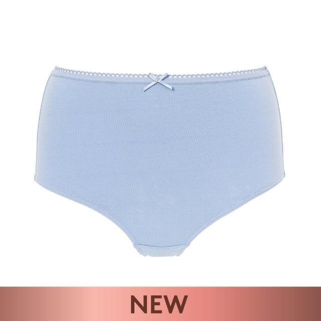 Triumph 黛安芬【Triumph 黛安芬】單品褲系列 棉感包臀高腰三角內褲 M-EL(暮光藍)