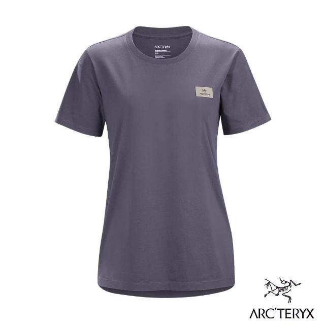 【Arcteryx 始祖鳥】女 24系列 Emblem Patch 有機棉 休閒 短袖 Tee(深未來紫)