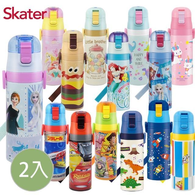 【Skater】迪士尼不鏽鋼直飲保溫水壺470ml(2入組)
