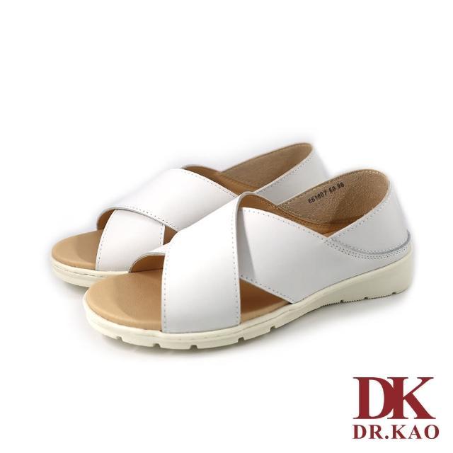 【DK 高博士】簡約交叉涼鞋 65-1007-50 白色