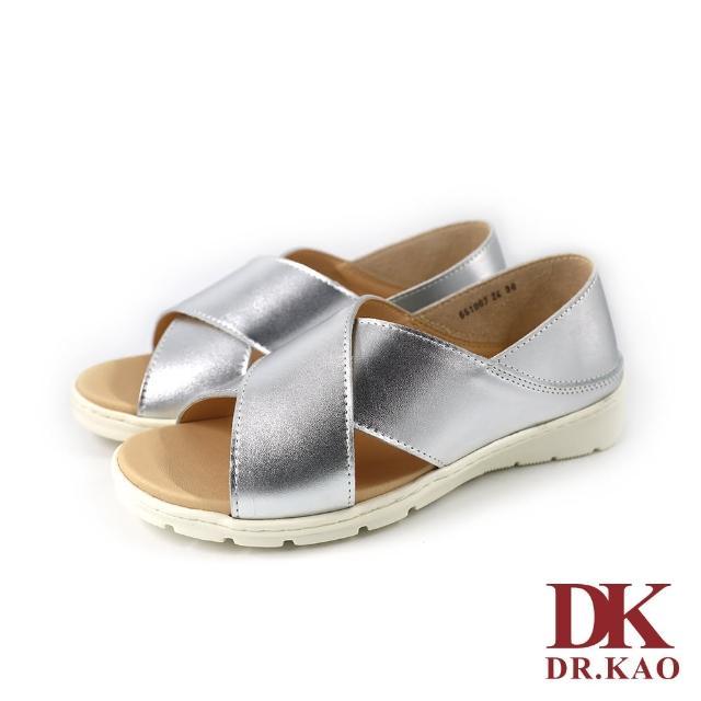 【DK 高博士】簡約交叉涼鞋 65-1007-24 銀色
