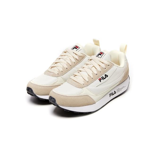 【FILA】男女款 運動鞋 BALANTA 復古運動鞋-米白(4-C615V-100)