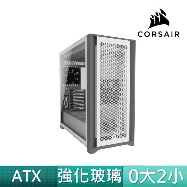 【CORSAIR 海盜船】5000D AIRFLOW 白玻璃