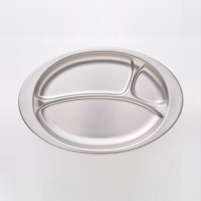 【青芳製作所】仿舊不鏽鋼分隔盤L34.5cm