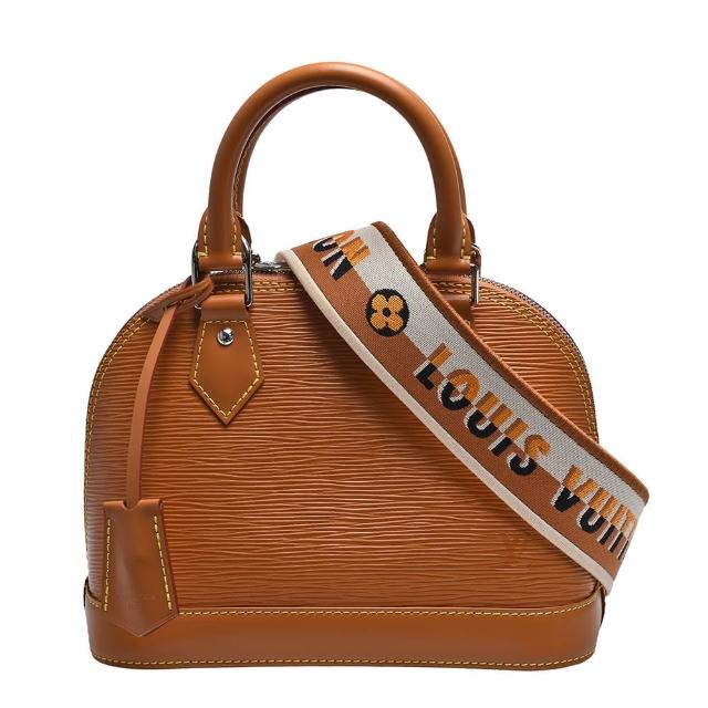 【Louis Vuitton 路易威登】M57540 經典EPI皮革ALMA BB手提/斜背包(迷你-蜜黃色)