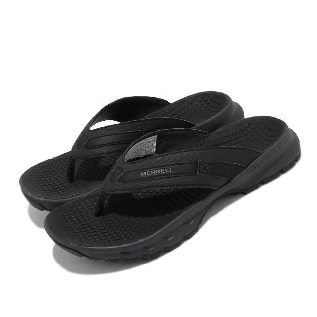 【MERRELL】拖鞋 Cedrus Flip 3 休閒 男鞋 緩衝 舒適 內嵌式避震墊片 穩定 耐磨 黑 灰(ML036325)
