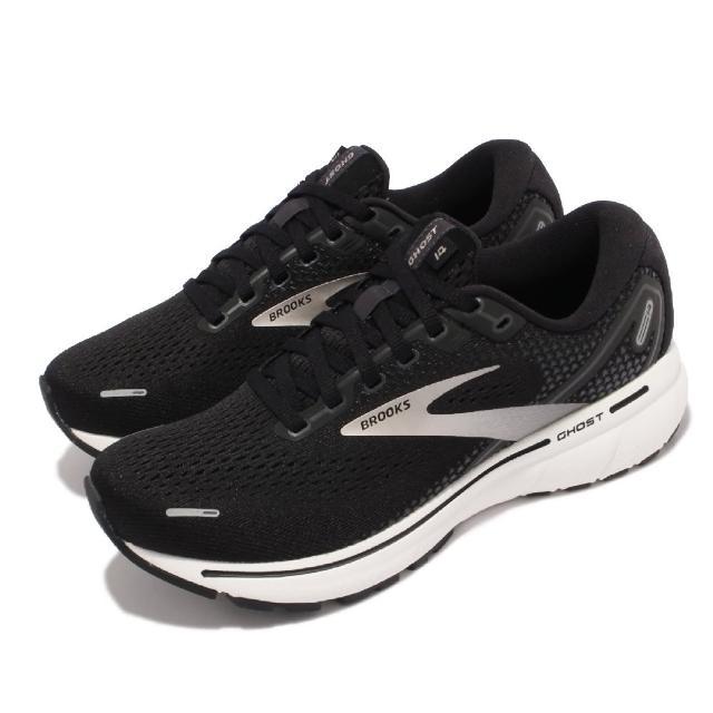 【BROOKS】慢跑鞋 Ghost 14 D 寬楦 女鞋 避震 穩定 慢跑 流暢 柔軟 舒適 黑 白(1203561D057)