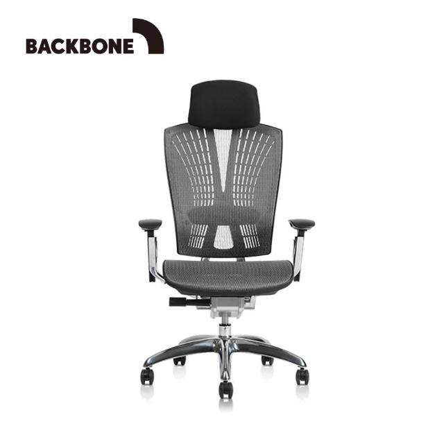 【Backbone】Whale人體工學椅 旗艦椅(特強網款 文墨黑)