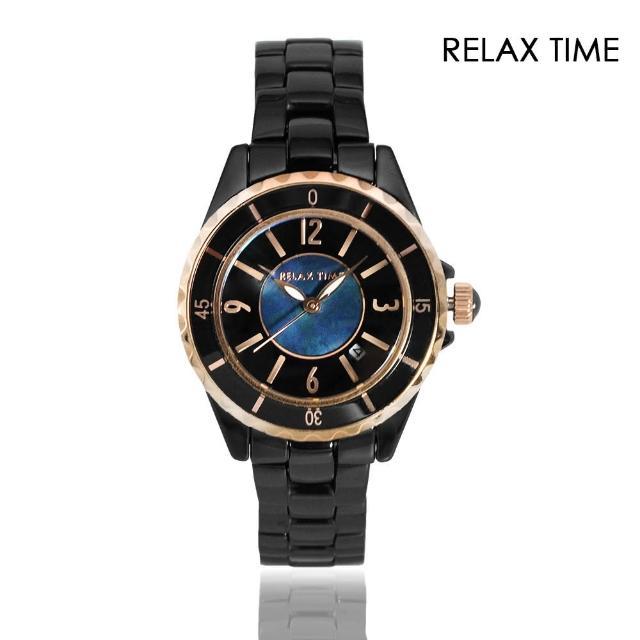 【Relax Time】經典陶瓷系列 黑色款 玫瑰金刻度(RT-93-11)
