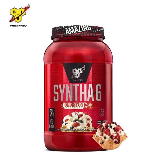 【BSN 畢斯恩】Syntha-6 頂級綜合乳清蛋白 2.59磅(莓果)
