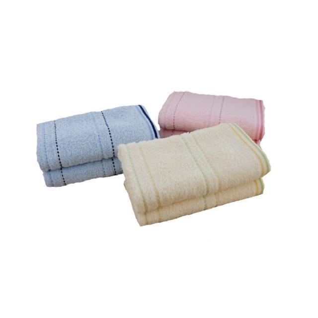 【台灣興隆毛巾】2626橫紋素色毛巾 2打-24入混色(毛巾)