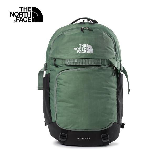 【The North Face】The North Face北面男女款綠色便捷收納休閒後背包|52SFGCC