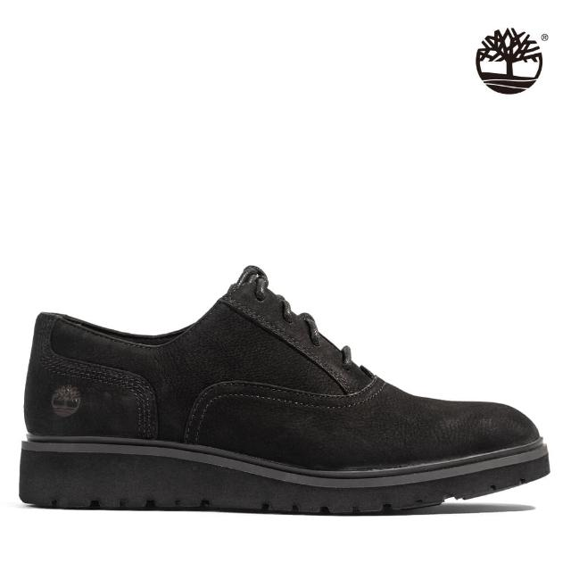 【Timberland】女款黑色磨砂革牛津休閒鞋(A1RFM015)