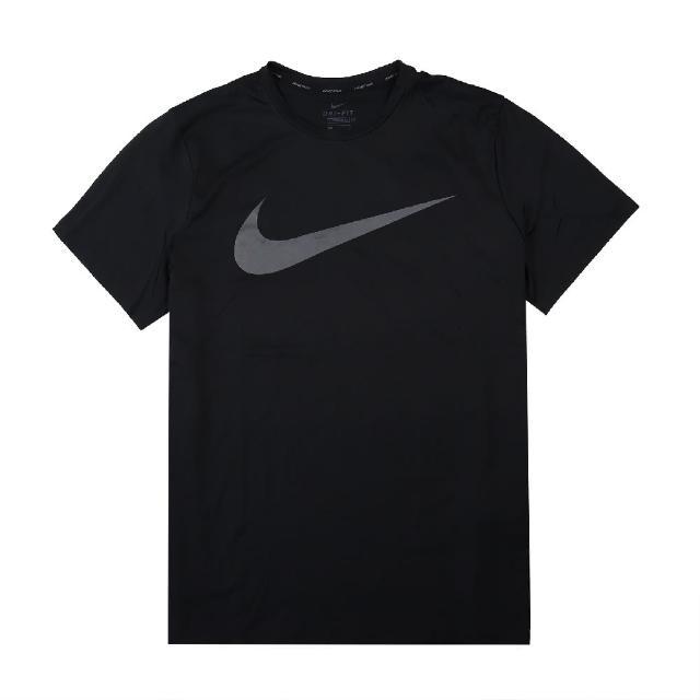 【NIKE 耐吉】T恤 Pro Dri-Fit Tee 運動休閒 男款 吸濕排汗 快乾 圓領 基本款 健身 重訓 黑 灰(CZ2418-010)