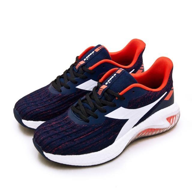 【DIADORA】男 迪亞多那 專業無縫TPU寬楦避震慢跑鞋 ETPU彈力球系列(藍橘 73133)